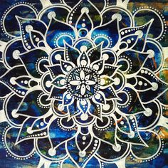 Playing with a new white Faber Castell pen :) I like! :)  Mixed media on masonite 1x1ft (c) whitevioletart2012