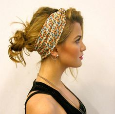super cute headband/hairstyle