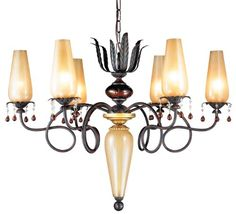Chandeliers  Eurofase 12803019 Tova 6Light Chandelier BronzeAmber with Gold -- This is an Amazon Associate's Pin. Detailed information can be found on Amazon website by clicking  the VISIT button.