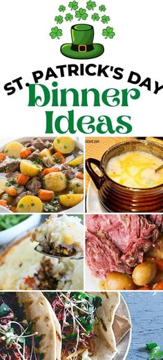 Have some fun with the family with these tasty St. Patrick's Dinner Ideas. All are easy to make and family tested!#stpatricksday#dinnerideas#holidayrecipes Best Dinner Recipes, Holiday Recipes, Holiday Ideas, Breakfast Lunch Dinner, Dessert For Dinner, Slow Cooker Corned Beef, Asian Recipes, Ethnic Recipes, Appetizers For Party