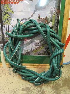 Hose Wreath for Garden. My hose often looks like this. It is art!
