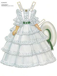 Paper Dolls~Scarlett - Bonnie Jones - Álbuns da web do Picasa Paper Toys, Paper Crafts, Paper Dolls Printable, Gone With The Wind, Vintage Paper Dolls, Retro Toys, Madame Alexander, Mannequins, Beautiful Dolls