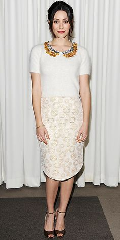 Look of the Day - February 10, 2013 - Emmy Rossum from #InStyle