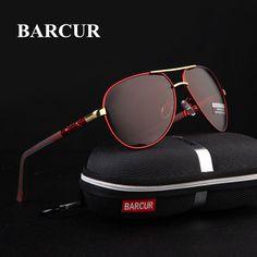 3054e99313cc2 BARCUR Aluminum Magnesium Men s Sunglasses Polarized Men Coating Mirror  Glas... Oculos De Sol