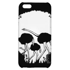 Ostrich Skull Illusion iPhone 5C Covers