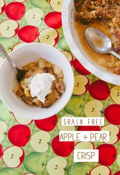 Grain Free Paleo Apple & Pear Crisp #Gluten Free