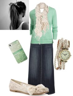 """""""Sea foam green."""" by tabitha-patterson ❤ liked on Polyvore"""