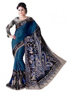 Blue Mul Cotton Kalamkari Saree & Blouse Product code: SNSA90K002 Retail price: 788/- Sale price : 750/-