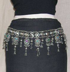 Tribal BELT Hip Scarf Belly dance skirt Costume Jewelry Hippie Boho Gypsy Kuchi