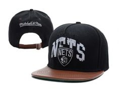 Brooklyn Nets Snapback Black Brown Mitchell And Ness : Casquette Pas Cher