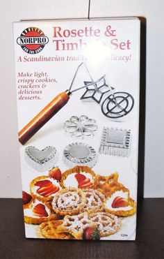 Norpro 7 Piece Aluminum Rosette/Timbale Decorative Pastry/Cookie Set New in Box #Norpro