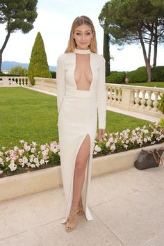 Wow girl. Gigi Hadid looked unreal at Cannes.