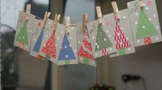 DIY Christmas cards from nice paterned paper
