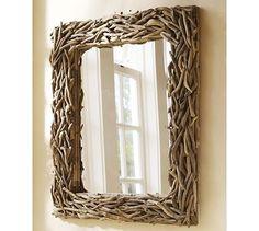 Driftwood Mirror via potterybarn