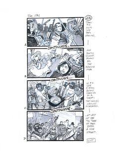 Children of Men storyboard panel by Martin Asbury