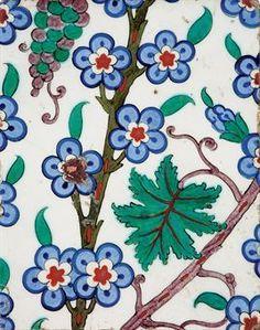 An Iznik pottery tile panel, Ottoman Turkey, circa 1575. Photo Christie's Image Ltd 2010