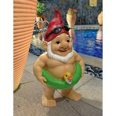 Give a trending touch to your home decor by adding this budget friendly Design Toscano Pool Party Pete Naked Gnome Statue. Perfect for your home or garden. Funny Garden Gnomes, Yard Gnomes, Gnome Garden, Garden Toys, Gnome Statues, Garden Statues, Swimming Gear, Diy Garden Projects, Garden Ideas