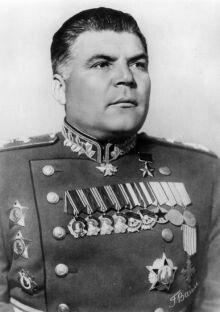 Malinovskij prese parte anche alla rapida e brillante vittoria sul Giappone in Manciuria nell'agosto 1945.
