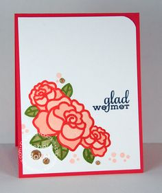 handmade card: glad we met by Shel9999 ...die cuts with embedd pieces in stained glass lines ... roses ... beautiful ...