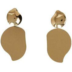 MANGO Metal pendant earrings (€13) ❤ liked on Polyvore featuring jewelry, earrings, mango jewellery, pendant earrings, metal pendant, pendant jewelry and cuff jewelry