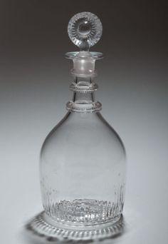An Anglo Irish Cork Glass Company Decanter Georgian Antique C1800