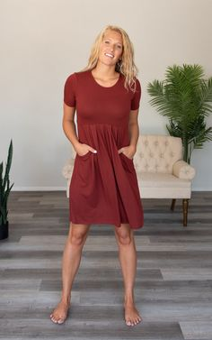 The Poplin -Burgundy – Mountain Aire Boutique Day Dresses, Summer Dresses, Boutique Clothing, Poplin, Pleated Skirt, Burgundy, Short Sleeves, Mountain, Fabric