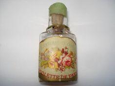 C1910 Vintage Extrait D'Odeur Violette De Parme Miniature Perfume Bottle   eBay
