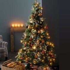 Weihnachtsbaum gold braun geschmuckt
