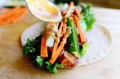 Thai Chicken Wraps  Prep Time: 20 Minutes Cook Time: 10 Minutes Difficulty: Easy Servings:2