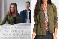 the Gibson Military khaki jacket worn by Scarlett Johansson in tWS is now sold-out everywhere