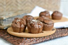 Chocolate should be eaten all day. Get your fix early, thanks to candy-bar-inspired muffins. Loaded with protein and coconut, it's truly a healthy recipe. Protein Muffins, Healthy Muffins, Protein Foods, Protein Recipes, Healthy Recipes, Baking With Protein Powder, Best Time To Eat, Coconut Protein, Muffin Recipes