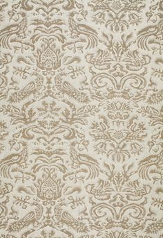 Aldwyn Linen Damask Schumacher Fabric