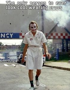 The Joker looks cool all of the times.