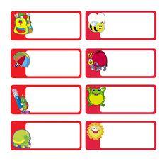 Etiquettes école livres cahiers scolaires à imprimer