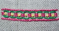 Guilloche stitch- I think I need to make a dress so I can edge it with this.