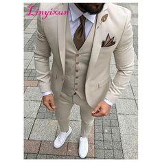 Navy Blue Gold Suits For Men Slim Fit 2 Piece – myshoponline.com