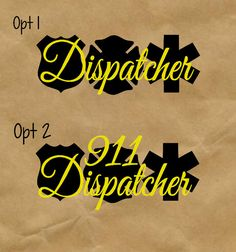 911 Dispatcher Decal  Yeti by TwistedOakRoo on Etsy