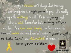 Loving a soldier. @Brittani Jackson. LOVE THIS! Thanks kay