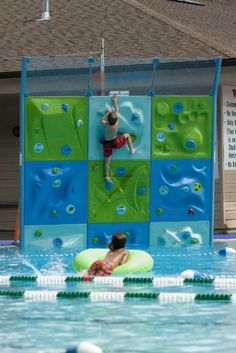 This aquatic climbing system presents a very creative and fun way to exercise in your pool. Imagine rock climbing followed by an exciting jump back into the pool. The climbing handles can be rotated 90 degrees in order to create several patterns of difficulty and they can also be removed and relocated to different locations on the panels. This challenging reconfiguration presents years of creative exercise and entertainment. Ideal if seeking very unique birthday presents for active individua...