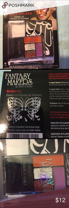 🆕 butterfly stencil kit Wildly wicked stencil kit wet n wild Makeup Eyeshadow