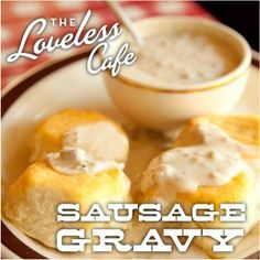 Rich and savory sausage gravy from the Loveless Cafe- as featured on the Today show!