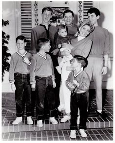 Jerry Lewis with first wife Patti (1944-80) and their sons Gary, Scott, Ronald, Joseph, Anthony, and Christopher. Patti Palmer was a singer with Tommy Dorsey's orchestra when she married Lewis in 1944, but she retired from show business to raise their six children.