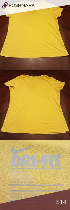 Nike Dry Fit Yellow Tee XL Nike Dry Fit Yellow XL Nike Tops Tees - Short Sleeve