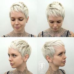 Short hairstyles for women, pixie hairstyles, cute short haircuts, pixie ha Pixie Hairstyles, Short Hairstyles For Women, Pretty Hairstyles, Super Short Hair, Short Hair Cuts, Short Hair Styles, Short Blonde Pixie, Cute Pixie Cuts, Cute Short Haircuts