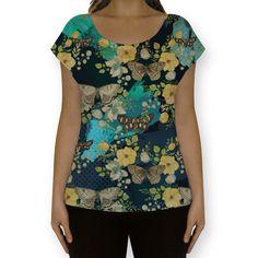 Camiseta fullprint Madame Butterfly de @jurumple | Colab55