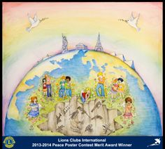 Merit Award Winner, Eva Giannelou, from Greece (Athens Olympiada Lions Club) - 2013-2014 Lions Clubs International Peace Poster Contest