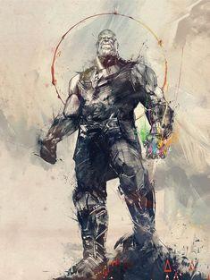 Avengers Infinity War, artwork, Thanos, Infinity Gauntlet HD wallpaper