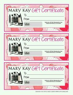 23 best mk gift certificates images on pinterest gift certificates heres an idea for some mary kay gift certificates yelopaper Image collections