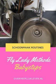 Volg me de komende 4 weken om de babystapjes van de Fly Lady in je dagelijkse routine mee te nemen. Zo maken we het huishouden een stuk makkelijker!   #flyladynl #flylady #flyladymethode #schoonmaakroutines #babysteps #babystapjes #routines #schoonmaken #huishouden Flylady, Baby Steps, Om