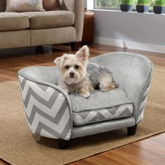 The cutest dog beg, pet bed. A stylish pet bed for your home decor. Dog Pet bed in a great zigzag design for your living room decor. Cat bed or Dog bed for your family pet. Yorkies, Maltipoo, Pomeranians, Snuggle Dog, Elevated Dog Bed, Yorshire Terrier, Dog Sofa Bed, Sofa Beds, Sofas